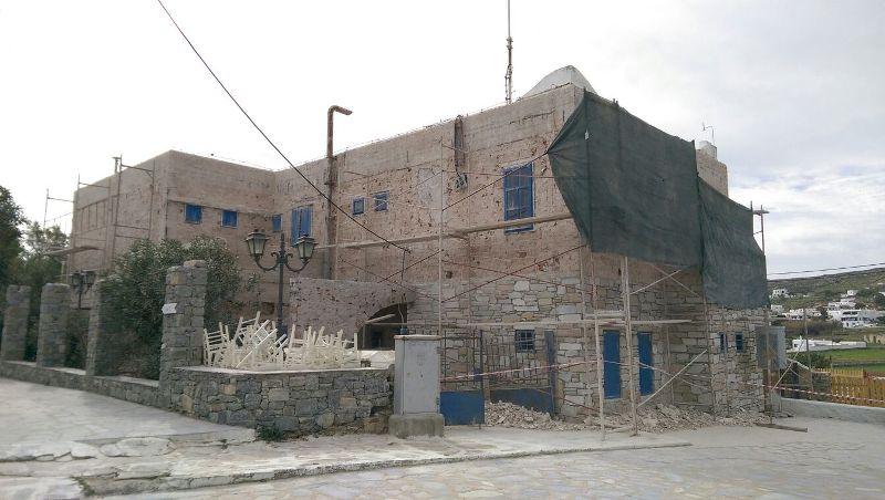 Εργασίες συντήρησης στο κτήριο του ΟΤΕ στην Άνω Μερά