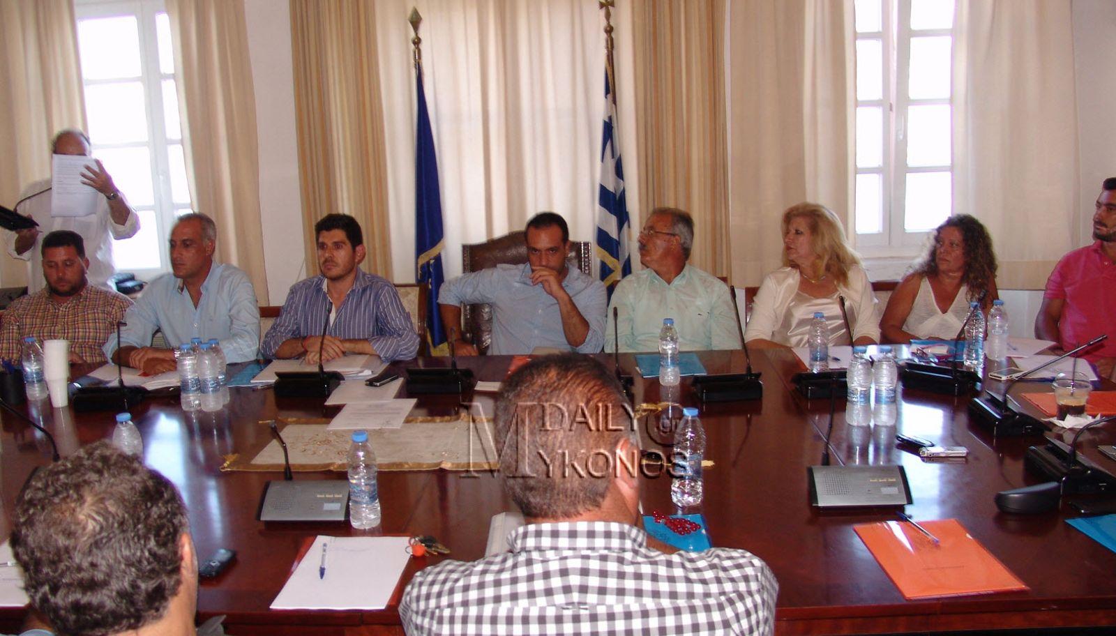Το νέο προεδρείο και τα μέλη των Επιτροπών του Δήμου Μυκόνου