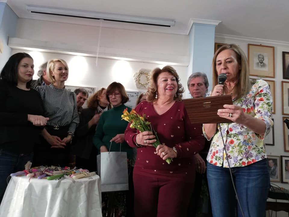 Την κα Αννουσώ Τόλη τίμησε για την προσφορά της η Αδελφότητα Ανωμεριτών Μυκόνου