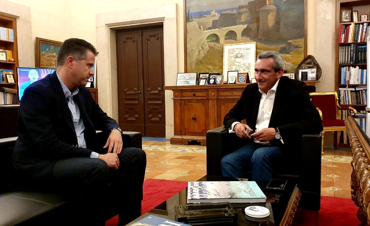 Συγχαρητήρια του Προέδρου της ΠΟΞ στον Γ. Χατζημάρκο για την τουριστική πολιτική στο Ν. Αιγαίο