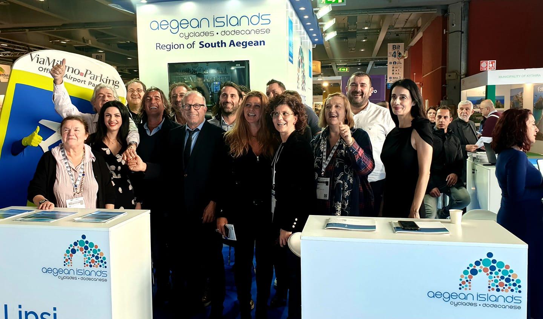 Με 21 νησιά της, η Περιφέρεια Νοτίου Αιγαίου κάνει αισθητή την παρουσία της στην τουριστική έκθεση BIT του Μιλάνου
