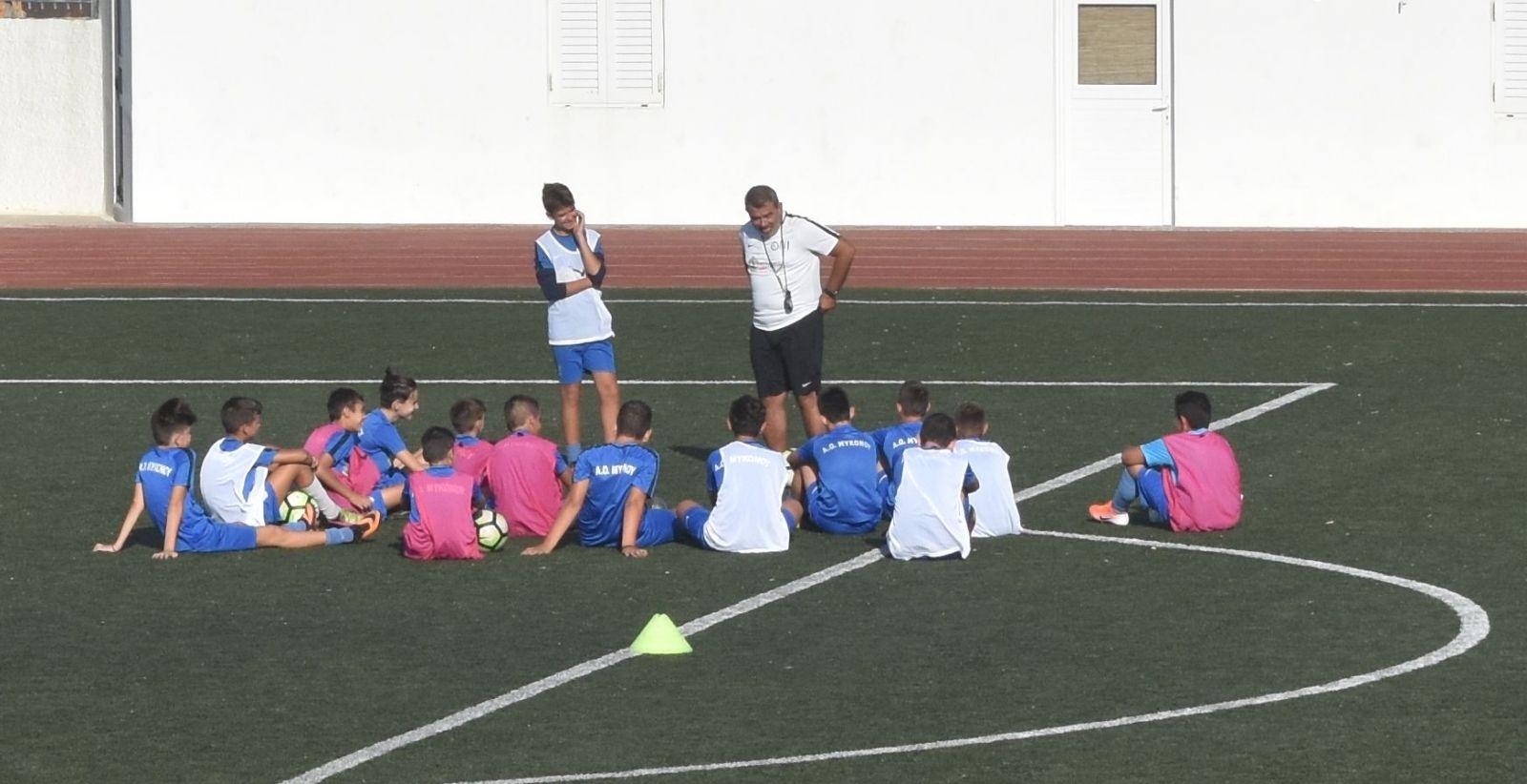 «Πάτησαν» γήπεδο οι ακαδημίες ποδοσφαίρου του Α.Ο. Μυκόνου