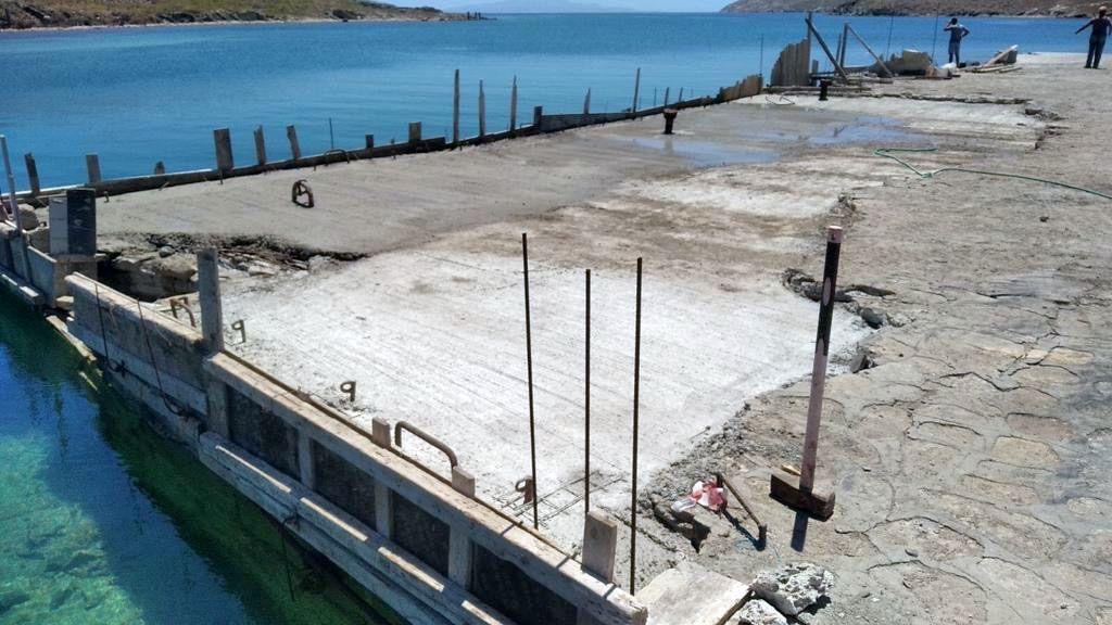 Ξεκίνησε η κατασκευή του έργου «Συντήρηση – αποκατάσταση εξομοιούμενης ζώνης λιμένα νήσου Δήλου»
