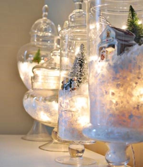 DIY: Χριστουγεννιάτικα διακοσμητικά με φωτάκια