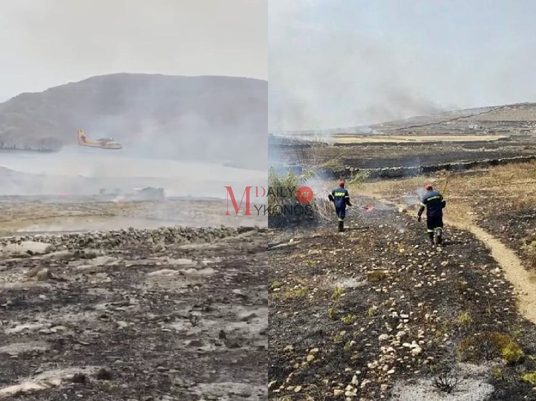 Καναντέρ στη μάχη για τη Ρήνεια - Βίντεο από την επιχείρηση πυρόσβεσης και τις πληττόμενες περιοχές