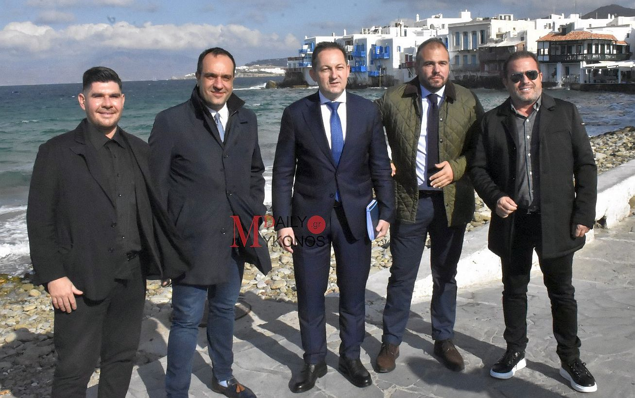 (pics & vid) Ο Αν. Υπουργός Εσωτερικών Στέλιος Πέτσας βρέθηκε στη Μύκονο