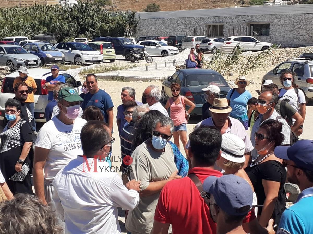 (vid & pics) Συγκέντρωση πολιτών της Μυκόνου στο Καλό Λιβάδι