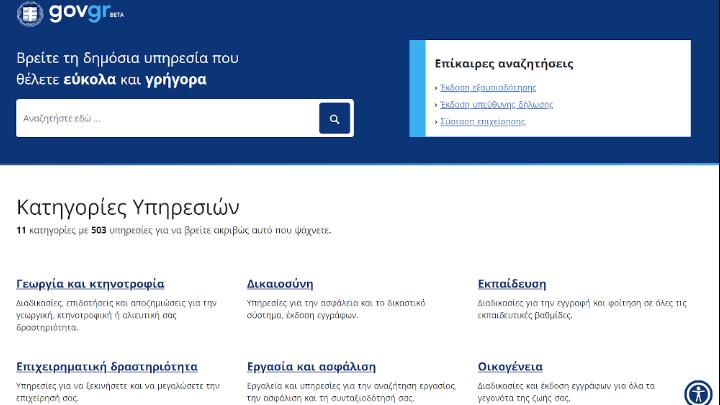 Πάνω από 6 εκατ. οι επισκέψεις των Ελλήνων στην ψηφιακή πύλη του gov.gr