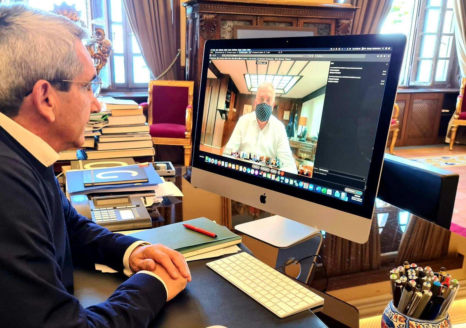 Σε τηλεδιάσκεψη  υπό τον Υπουργό Εσωτερικών, ο Περιφερειάρχης