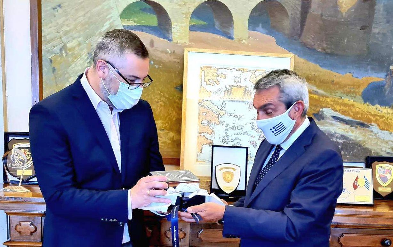 Τον Περιφερειάρχη, Γιώργο Χατζημάρκο, επισκέφθηκε ο Πρέσβης της Αυστραλίας στην Ελλάδα, Αθανάσιος Σπύρου
