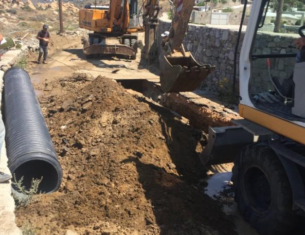 Ανακατασκευή του κεντρικού αγωγού αποχέτευσης στην Αλεόμανδρα