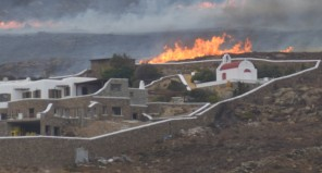 Πύρηνο μέτωπο κοντά σε σπίτια στον Πάνορμο